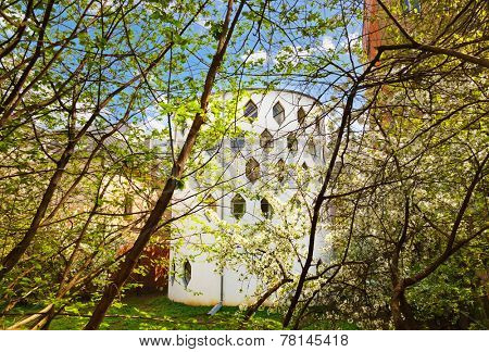 Famous house of architect Melnikov on Arbat street in Moscow Russia