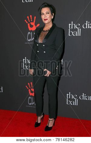 LOS ANGELES - DEC 11:  Kris Jenner at the Rihanna's First Annual Diamond Ball at the The Vineyard on December 11, 2014 in Beverly Hills, CA