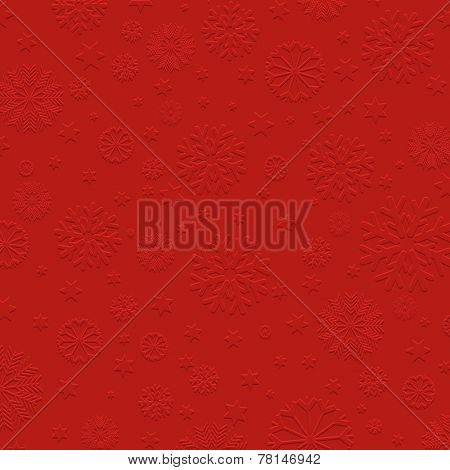 Christmas background with embossed snowflake design