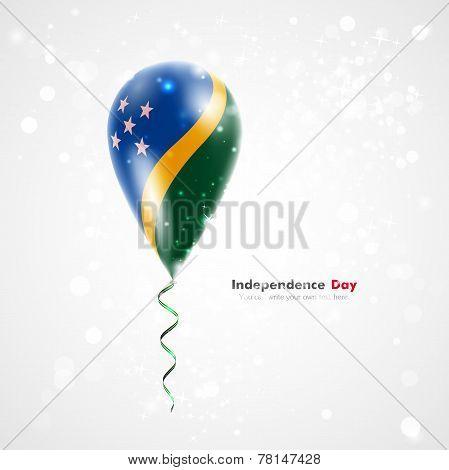 Flag of Solomon Islands on balloon