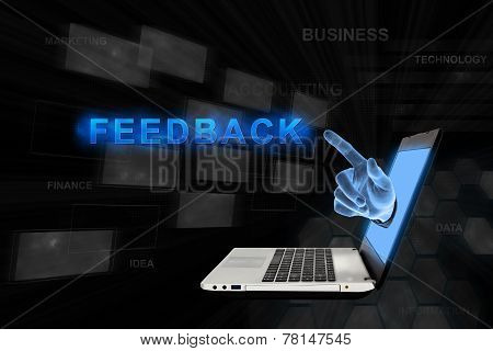Pointing Hand Feedback With Digital Background
