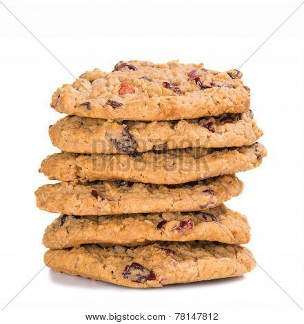 Stack Of Cranberry Oatmeal Raisin Cookies