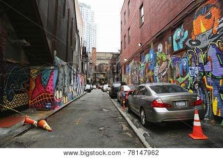 Mural art in Downtown Brooklyn