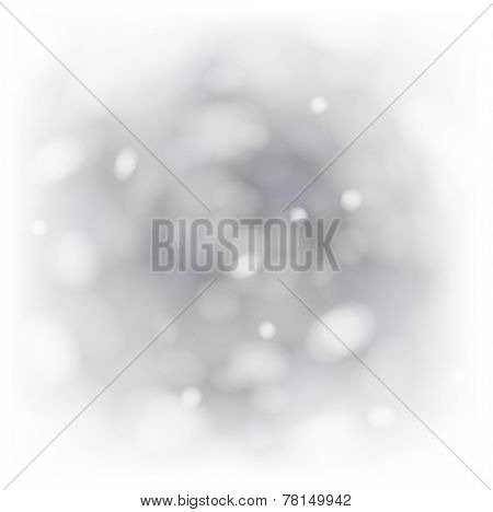 Bokeh abstract grey background with rotate lights. Vector illustration.