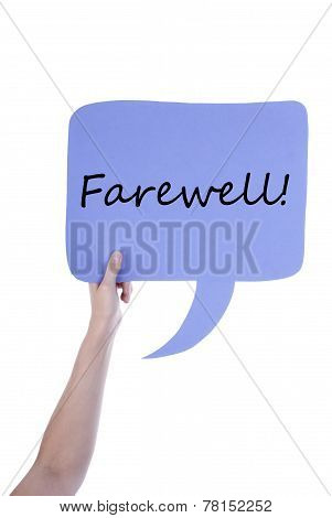 Light Purple Speech Balloon With Farewell
