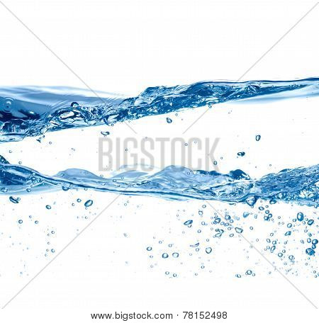 Water and air bubbles isolated over white