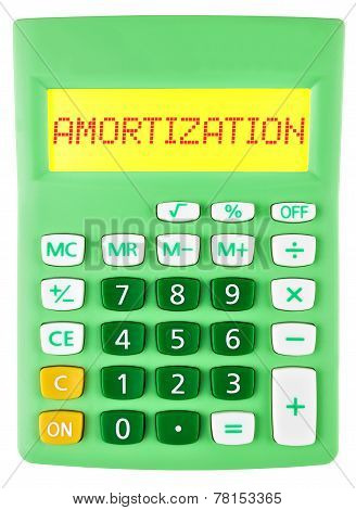 Calculator With Amortization On Display