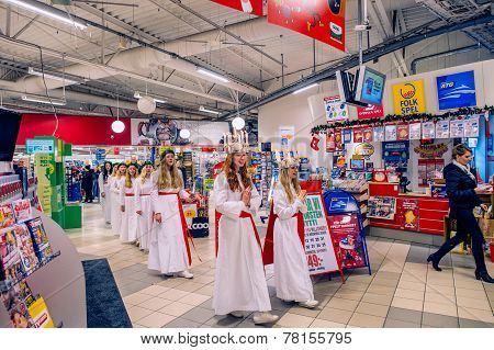 Saint Lucy celebration in Sweden