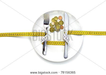 money inside instead of food.