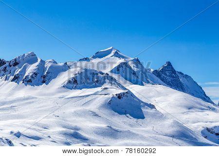 View of the mountain La Grande-Motte.