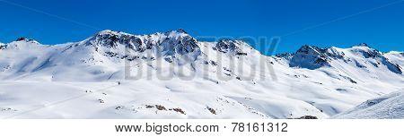 Mountain landscape in Tignes, France.