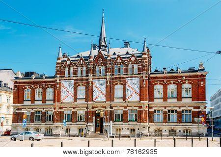Finnish Design Museum (designmuseo) Building In Helsinki, Finland