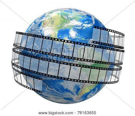 Film Strip and globe