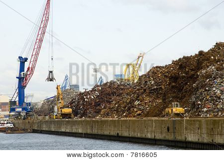 Work On A Waste Disposal