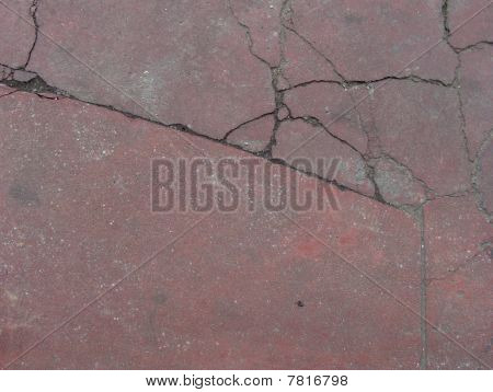 Red Epoxy Cracked Floor