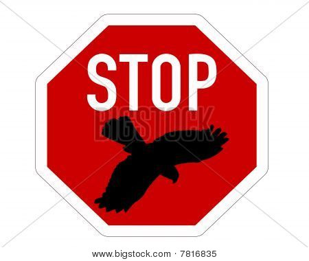 Stop Sign For Bird Swoops