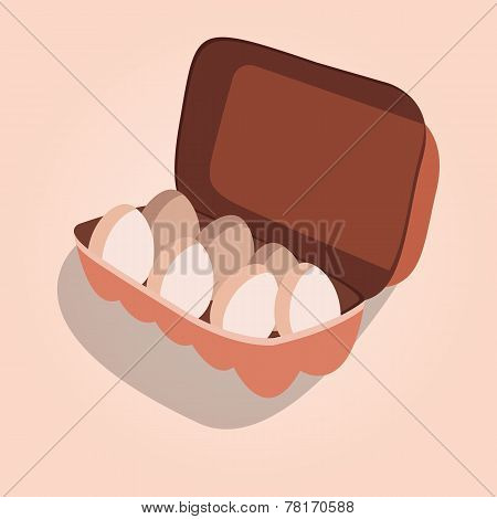 Egg Container Vector Illustration