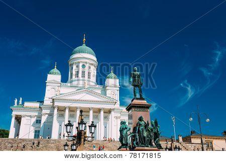 Helsinki Cathedral, Helsinki, Finland. Summer Sunny Day