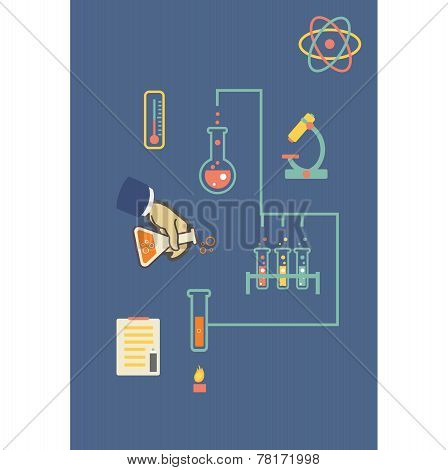 Chemistry infographic vector illustration, infographics template for medical biochemical research do