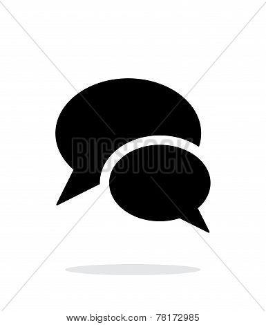 Talk icon on white background.