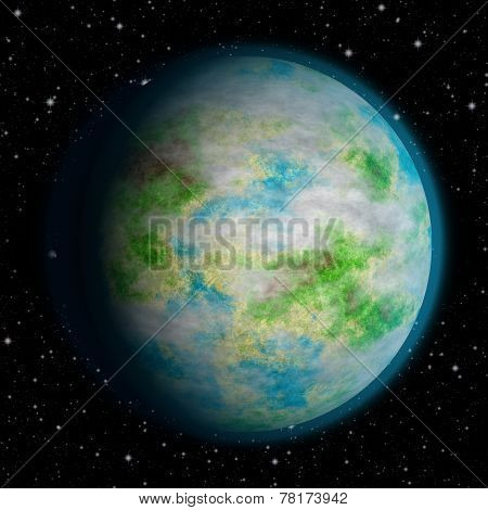Abstract Earth Planet Generated Texture Background