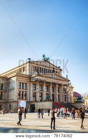 Concert Hall (konzerthaus) At Gendarmenmarkt Square In Berlin