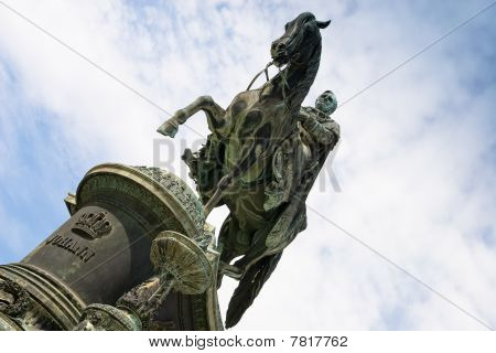 Statue King John Of Saxony (dresden, Germany)