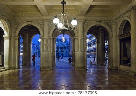 Arches in St. Mark Square, Venice
