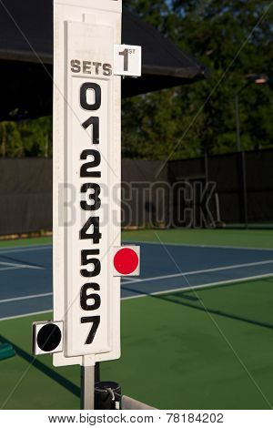 Tennis Score Keeper on the Court