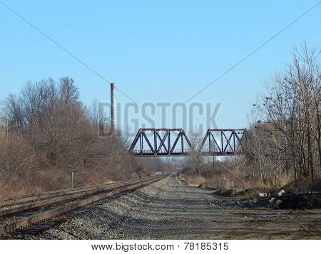 a fall train trestle