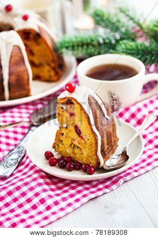 Piece Of Holiday Bundt Cake