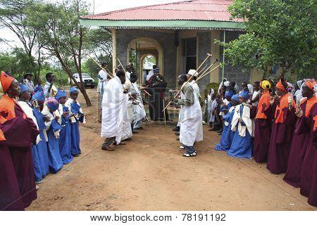 Celebration In Orthodox Ethiopean Christian Church.