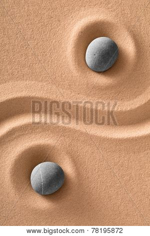 yoga relaxation and meditation spa wellness background stones in Japanese zen garden