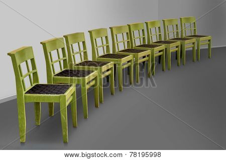 Row Of Green Chairs