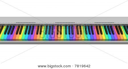 Rainbow synthesizer keyboard