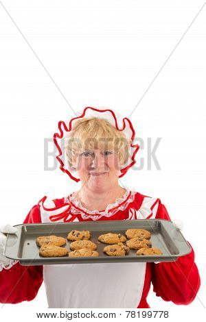 Mrs Claus With Tray Of Cookies
