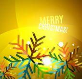 stock photo of merry chrismas  - Colorful bright Chrismas card - JPG
