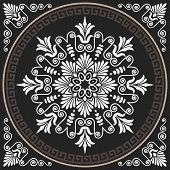 image of greeks  - Seamless Traditional vintage white Greek ornament  - JPG