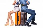 pic of knapsack  - Young couple is ready to travel - JPG