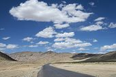 picture of manali-leh road  - High Altitude Empty Road In Indian Himalayas - JPG