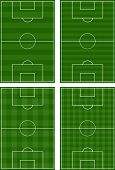 stock photo of offside  - An Illustration Set of Different Football Fields - JPG