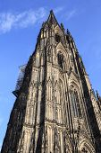 stock photo of dom  - Facade of the Dom church in the city Cologne Germany - JPG