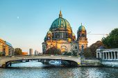 image of dom  - Berliner Dom cathedral early in the evening - JPG