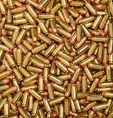 image of hollow point  - Closeup of 40   caliber cartridges - JPG