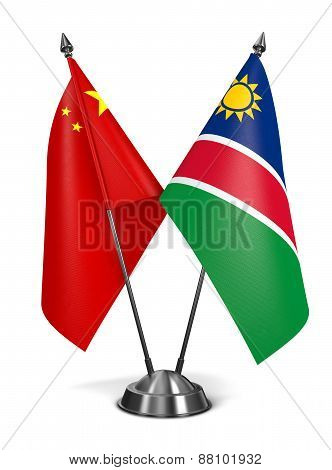 China and Namibia - Miniature Flags.
