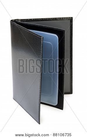 Cover Of Black Leather For Documents