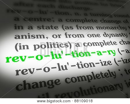 Dictionary Revolutionary Black On BG