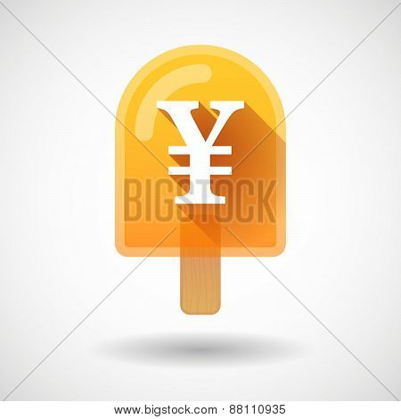 Ice Cream Icon With A Yen Sign