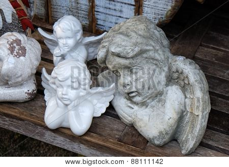 HALLSTATT, AUSTRIA - DECEMBER 13: Angel, Christmas decoration shop on December 13, 2014 in Hallstatt, Austria.