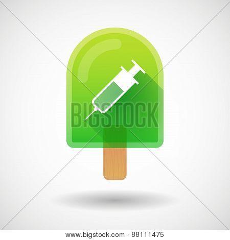 Ice Cream Icon With A Syringe
